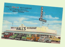 Vintage drive-in - Hall's Restaurant