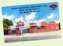Vintage Texas drive in - Frank's Drive In